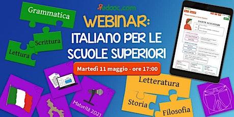 Italiano, Storia e Filosofia per la Scuola Secondaria di Secondo Grado biglietti
