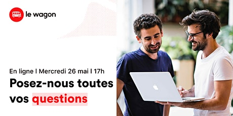 Session d'informations en ligne Formation Développement Web x Le Wagon ingressos