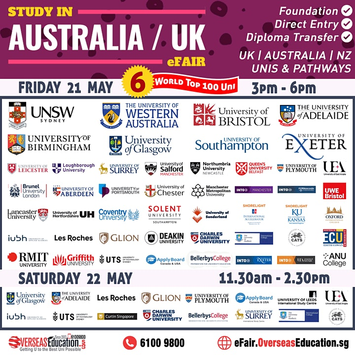 Study in Australia / UK E-Fair image