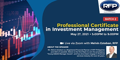 Professional Certificate in Investment Analysis and Portfolio Construction tickets