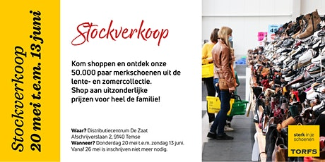 Stockverkoop Schoenen Torfs tickets