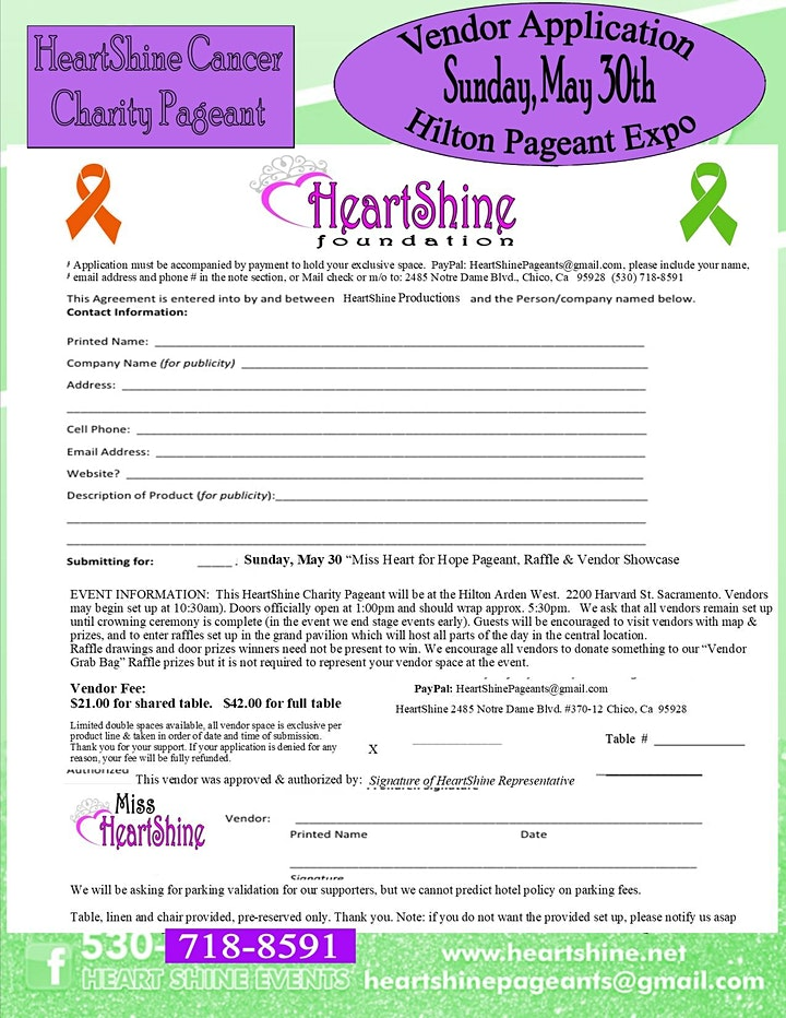 Light, Camera, Action for a Cure! HeartShine Cancer Charity Pageant image