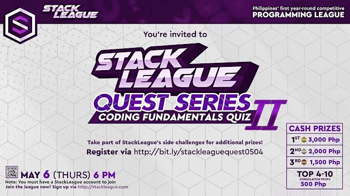StackLeague Quest Series: Coding Fundamentals Quiz II image
