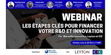 WEBINAR : LES ÉTAPES CLÉS POUR FINANCER VOTRE R&D ET INNOVATION ! billets