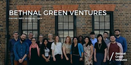 Bethnal Green Ventures -  A21 Programme Q&A tickets