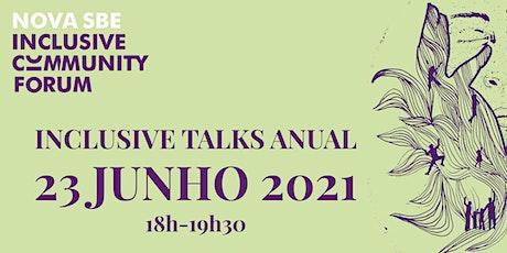 Inclusive Talks Anual | junho 2021 bilhetes