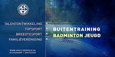 Badminton Buitentraining Jeugd 12 - 26 tickets