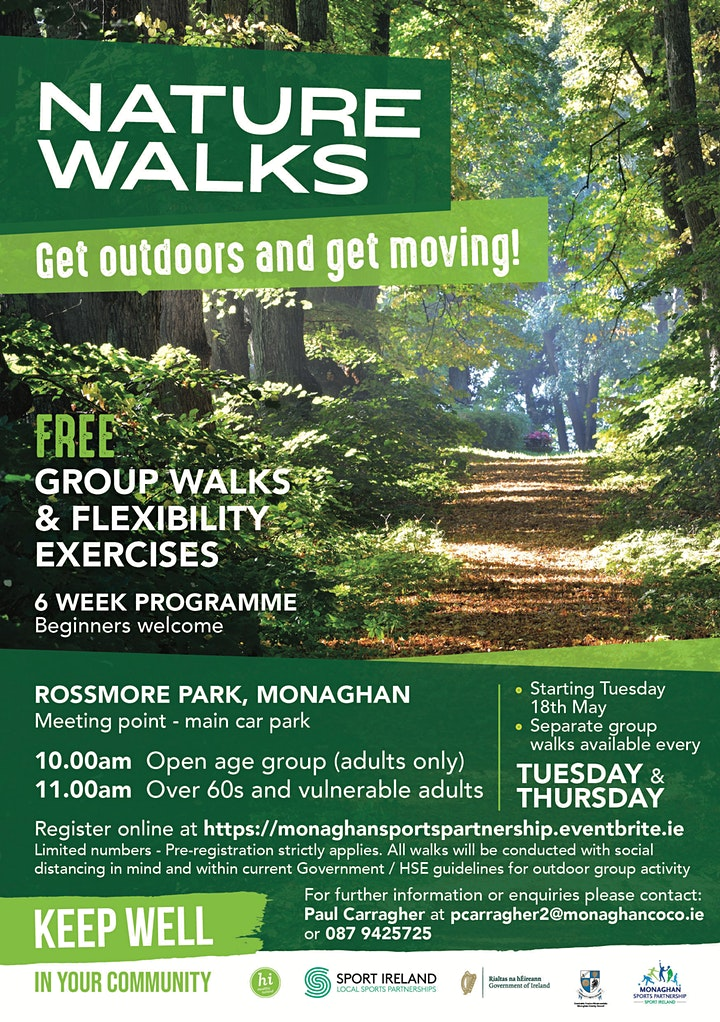 Nature Walks at Rossmore Park! (For all adults over 18) image