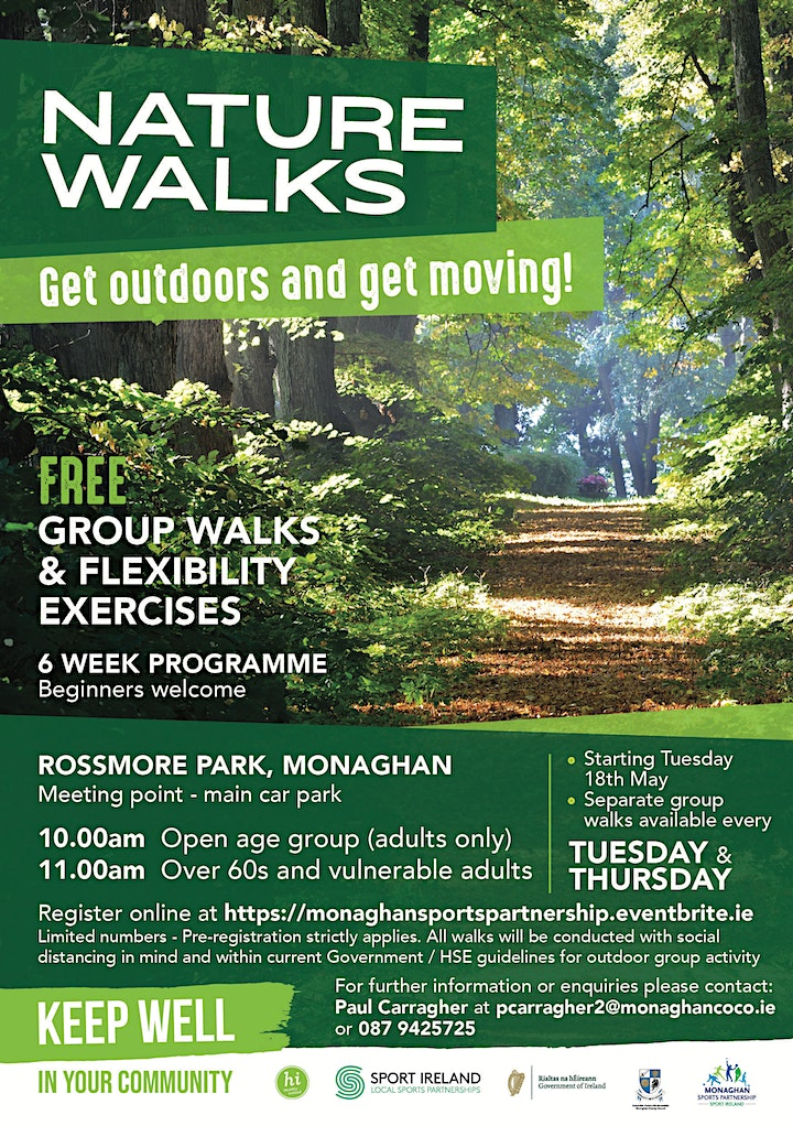 Nature Walks at Rossmore Park! (For over 60's & vulnerable adults) image