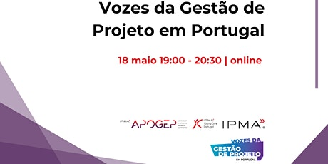 Vozes da Gestão de Projeto em Portugal bilhetes
