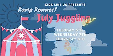 July Juggling tickets