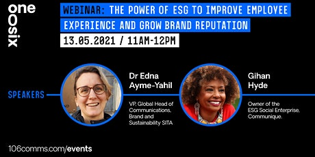 The power of ESG to improve employee experience and grow brand reputation. tickets