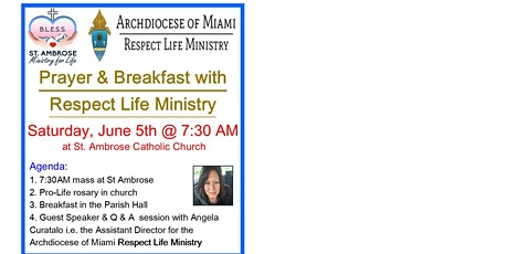 Pro-life Prayer Breakfast tickets