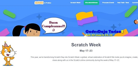 #ScratchWeek2021 - Programmiamo la creatività - Divertiamoci con Scratch tickets