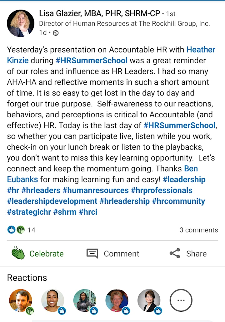 HR Summer School 2021 image
