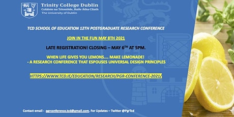 PGR Conference 2021 - Late Registration - When Life Gives You Lemons... tickets