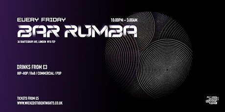 Bar Rumba // EVERY FRIDAY // £3 DRINKS tickets