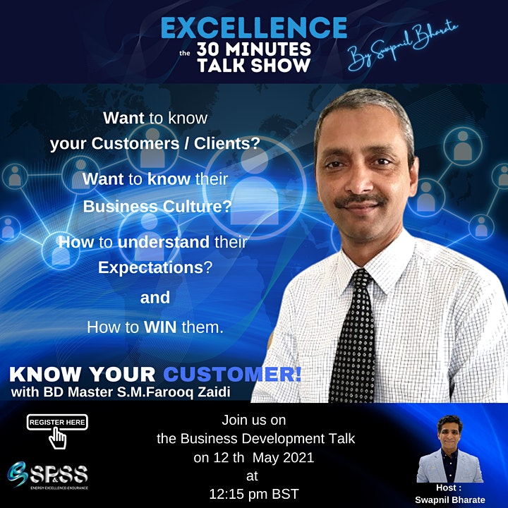 KNOW YOUR CUSTOMER !  EXCELLENCE -The 30 Minutes Talk Show image