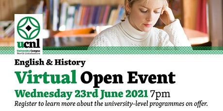 English and History Virtual Open Event - June tickets