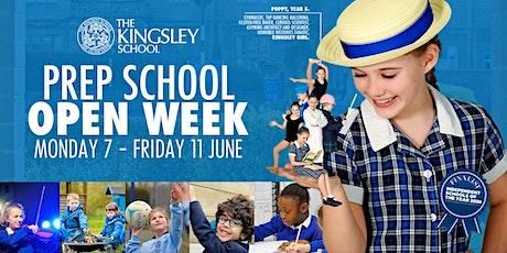 The Kingsley Prep School Open Week tickets