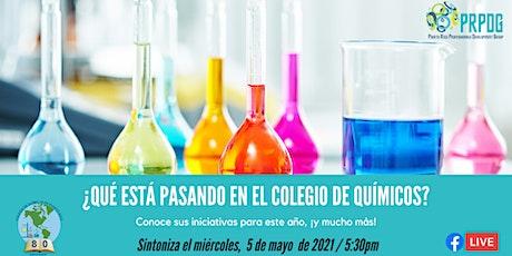 ¿Qué está pasando en el Colegio de Químicos? entradas