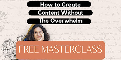 Free Content Creation Masterclass tickets