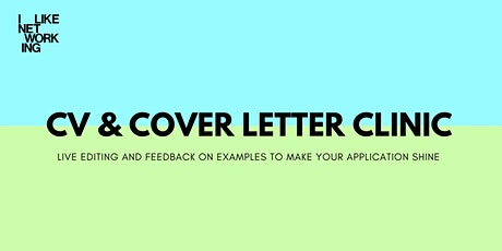 CV & COVER LETTER CLINIC tickets