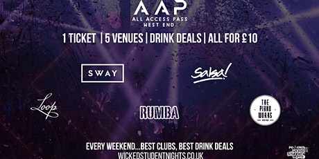 ALL ACCESS PASS // AAP // EVERY FRIDAY tickets