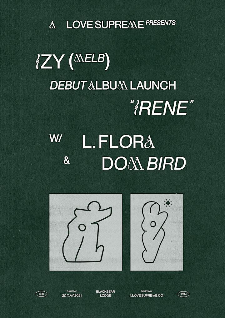 A Love Supreme presents... IZY debut album launch with L. Flora & Dom Bird image
