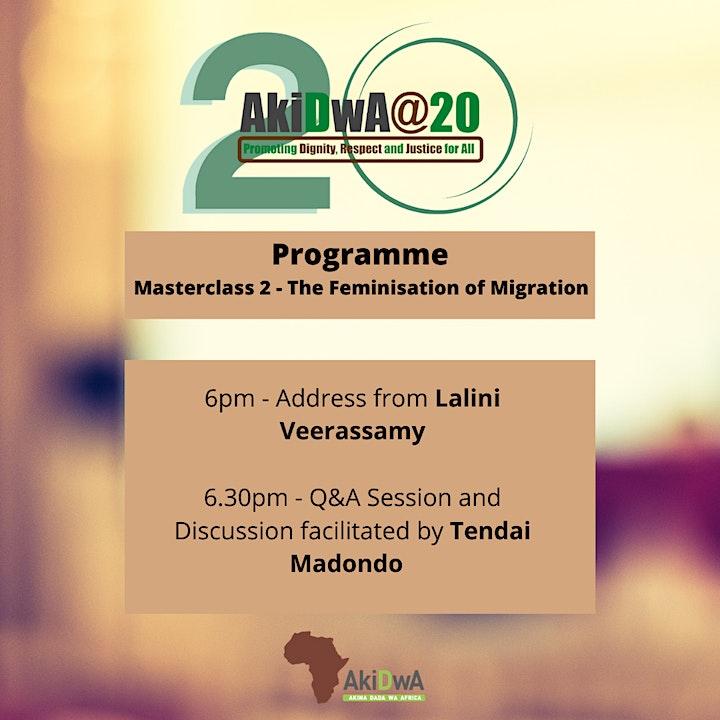 AkiDwA@20 Masterclass 2: The Feminisation of Migration image