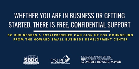 FREE Counseling for DC Businesses & Entrepreneurs tickets