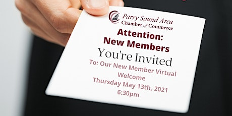 New Member's Welcome Event tickets