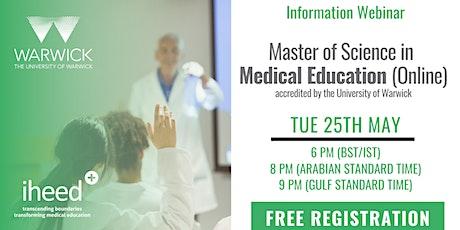 MSc Medical Education: University of Warwick - Info Webinar - May 25 2021 tickets