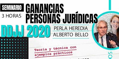 Grabacion GANANCIAS PERSONAS JURÍDICAS – DDJJ 2020 entradas