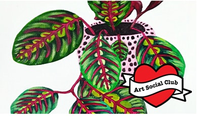 Funky Prayer Plant Painting - no drawing skills needed! tickets