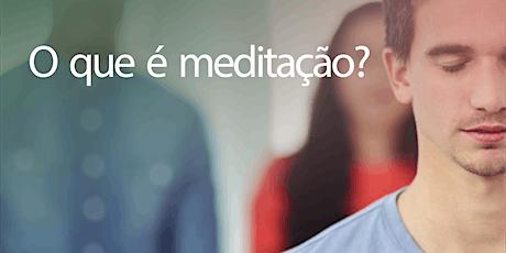O que é meditação? bilhetes