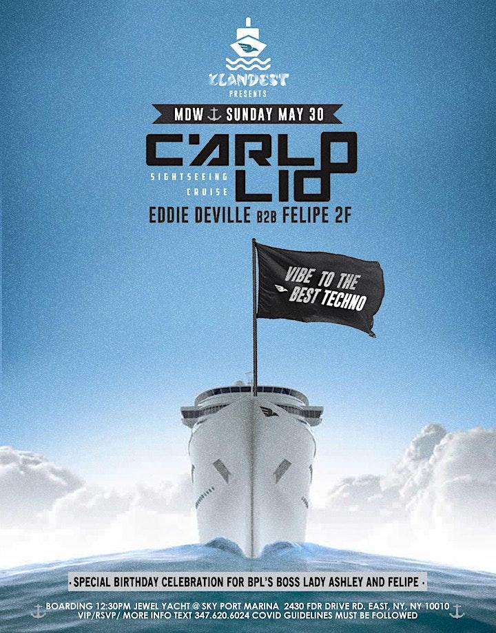 CARLO LIO [ LET'S TECHNO  Sightseeing Cruise ] MDW/SUNDAY MAY 30 image