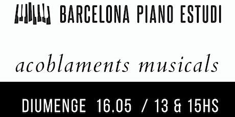 Concierto de primavera / Ensambles en el Barcelona Piano Estudi entradas