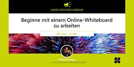 Beginne mit einem Online-Whiteboard zu arbeiten Tickets