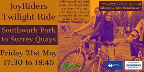 Women only Twilight ride:  Southwark Park to Surrey Quays tickets
