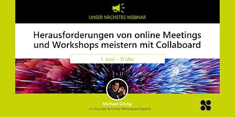Herausforderungen von online Meetings und Workshops meistern mit Collaboard Tickets