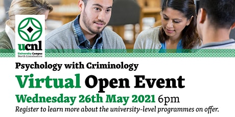Psychology with Criminology Virtual Open Event - May tickets