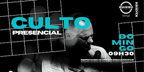 CULTO DOMINGO (30/05) 09h30 ingressos