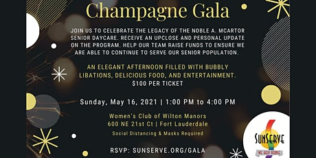 SunServe Champagne Gala for the Noble A. McArtor Senior Center tickets