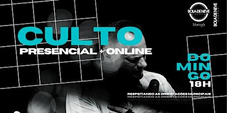 CULTO DOMINGO (30/05) 18H00 ingressos