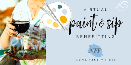 Virtual Paint & Sip  benefitting Nova Family First tickets