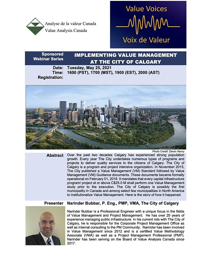 Implementing Value Management at the City of  Calgary image