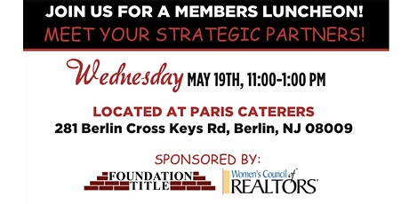 Meet Your Strategic Partners! tickets