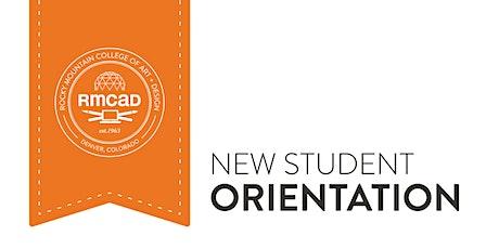RMCAD New Student Orientation- Summer B tickets