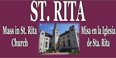 STA. RITA - 21 de mayo del 2021 - MISA de Sta. Rita tickets
